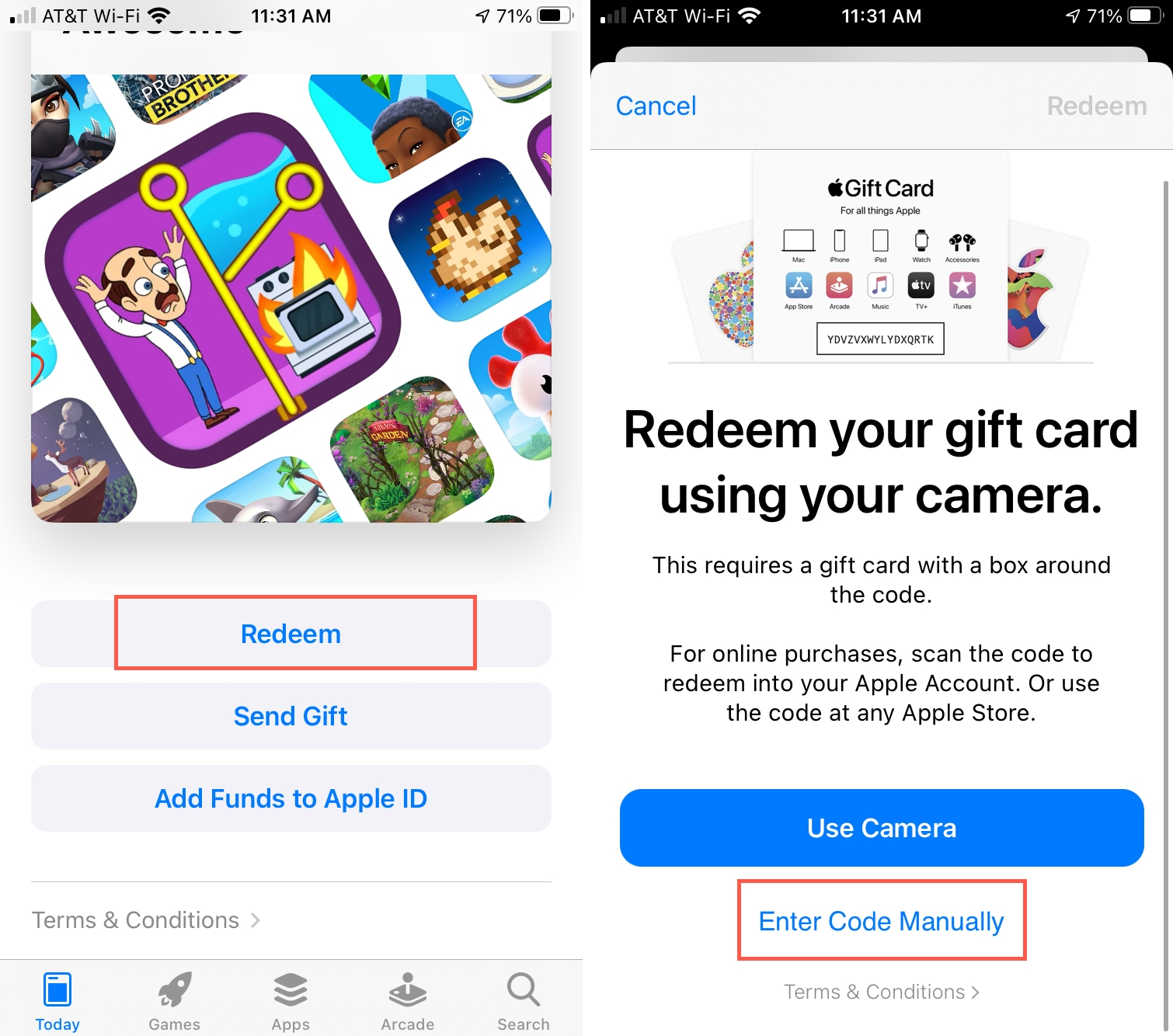 Redeem a Promo Code in the App Store on iPhone