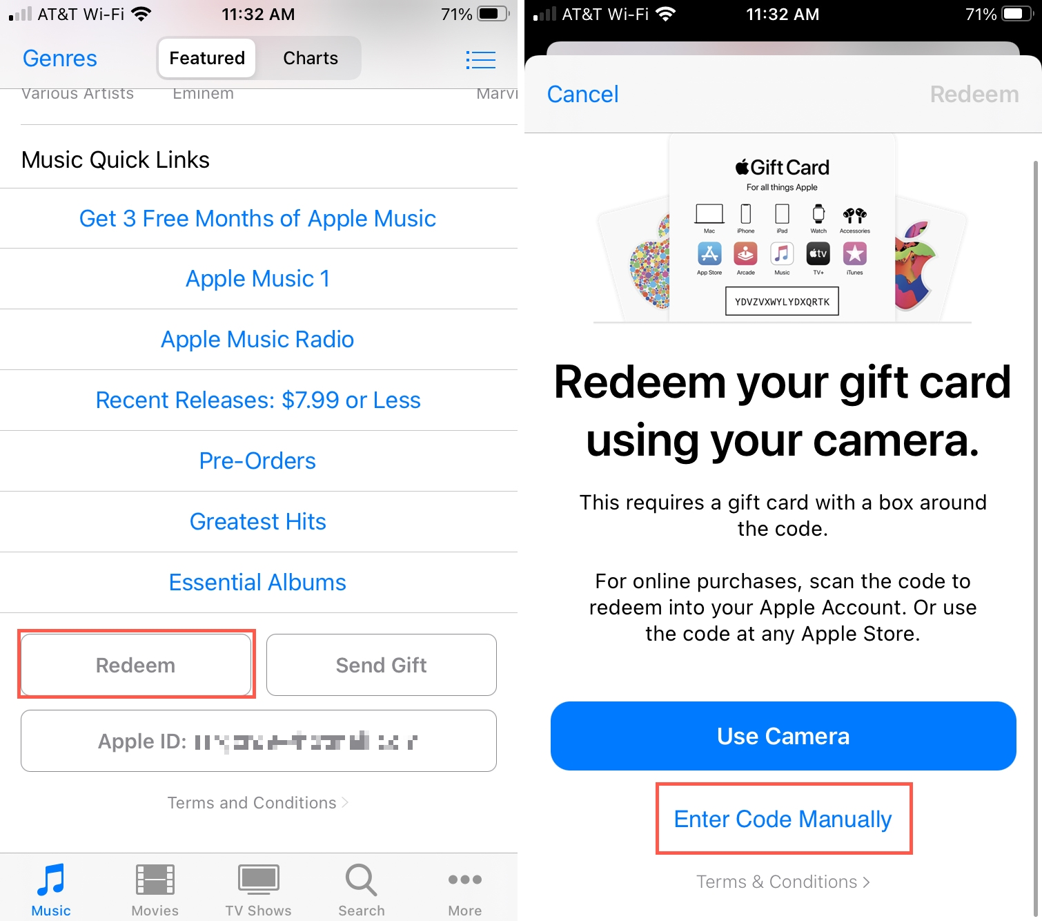 Redeem a Promo Code in iTunes on iPhone