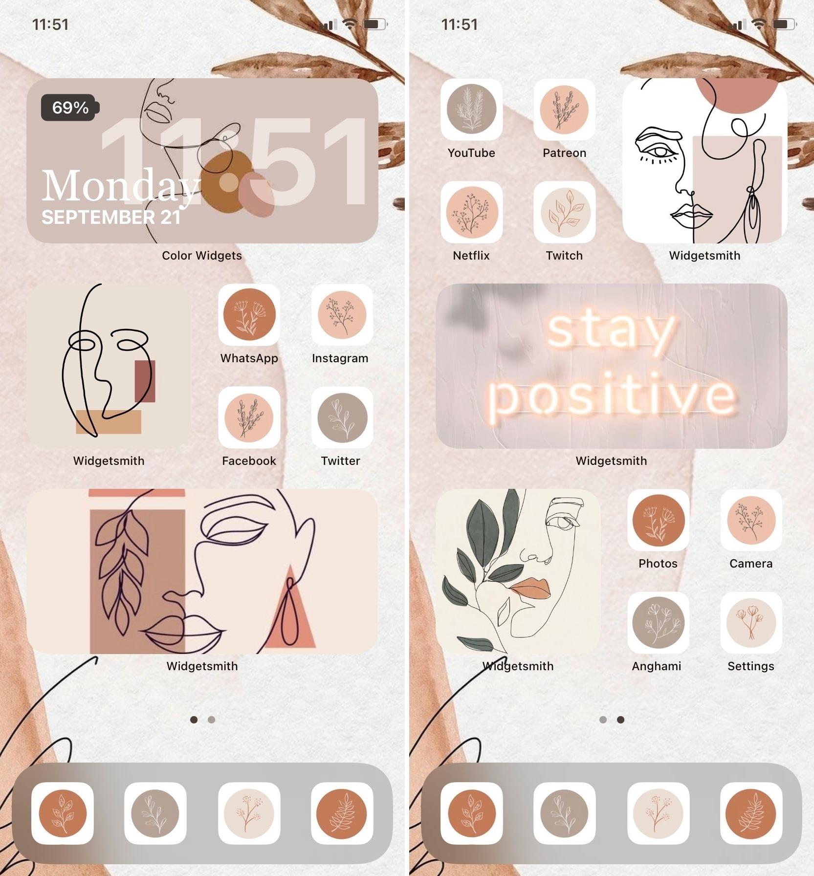 Sara_LM10 iOS 14 Home Screen