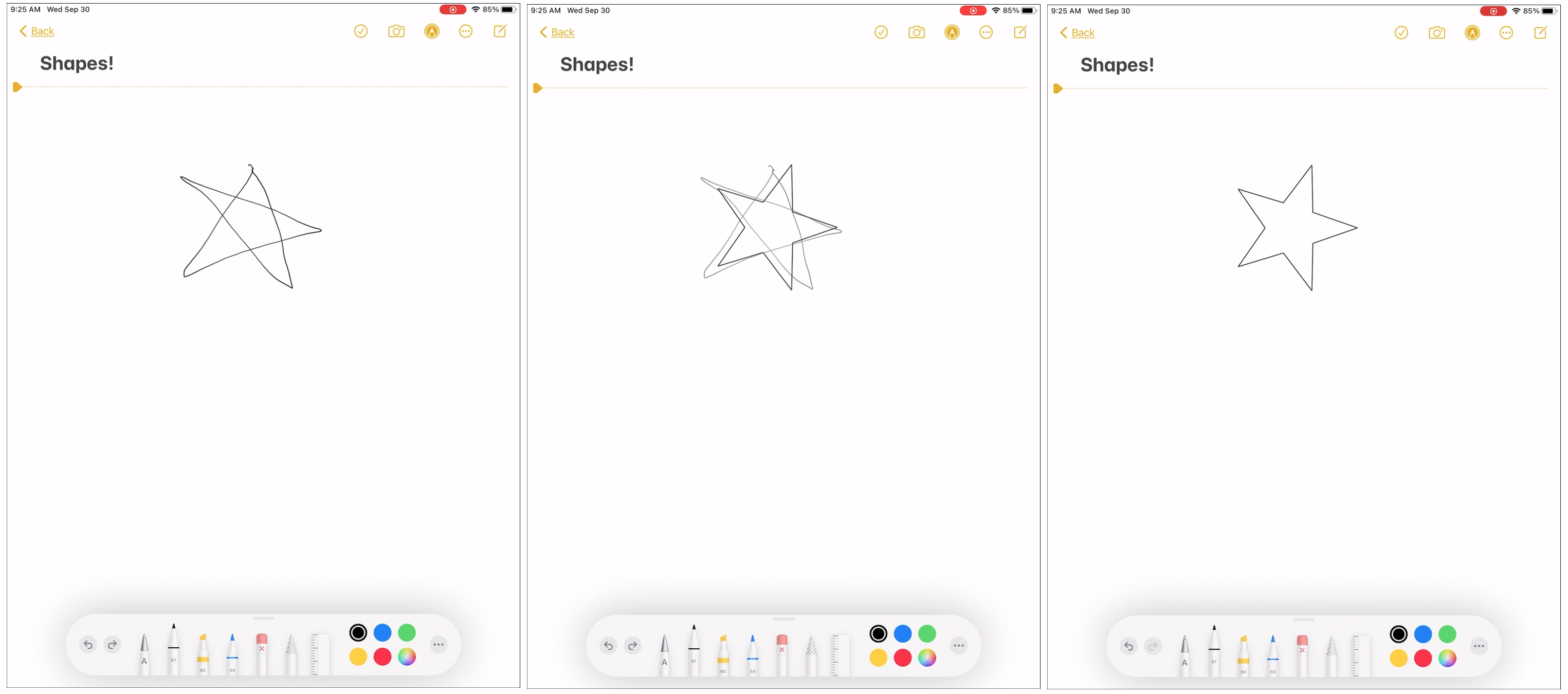Shape Recognition iPad Star
