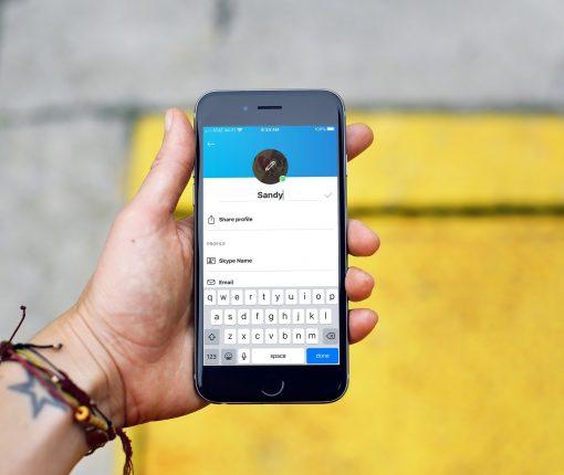 Skype Profile Edit Display Name iPhone