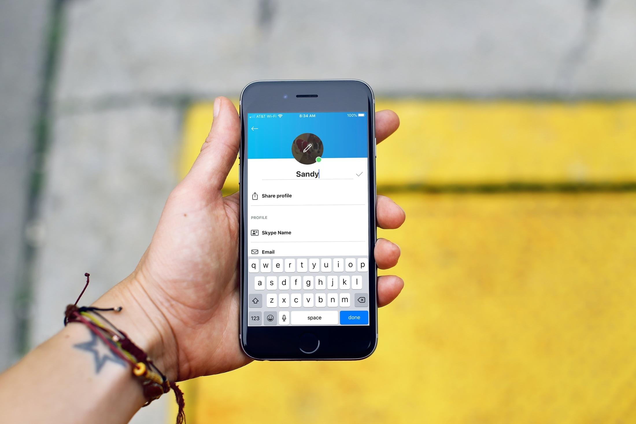 Change your Skype name