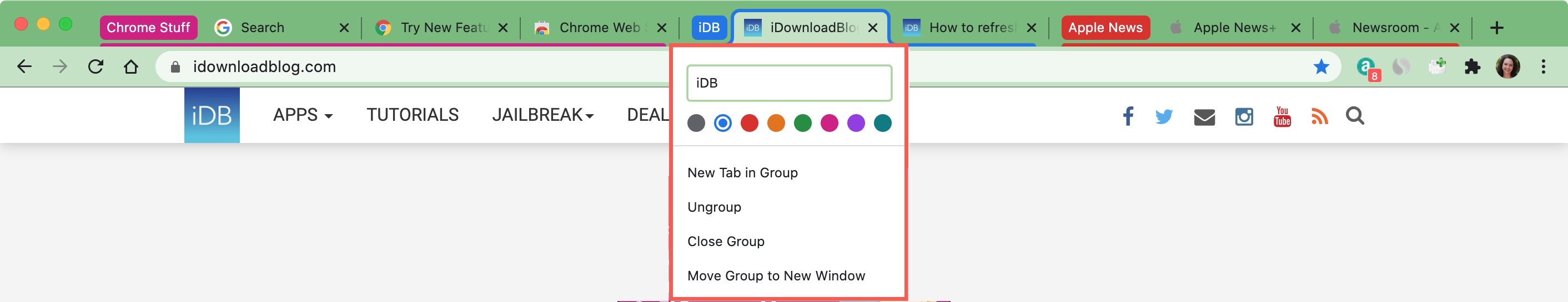 Tab Groups In Google Chrome Mac