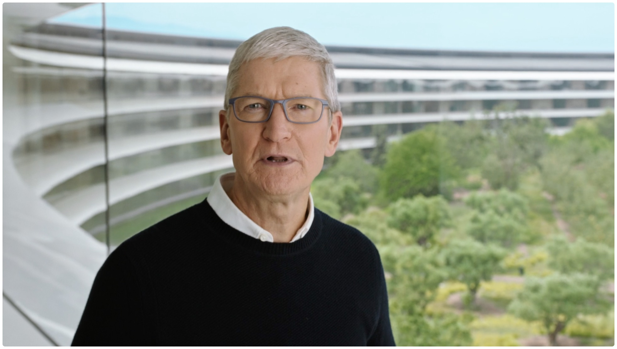 Apple CEO Tim Cook inside the Apple Park headquarters