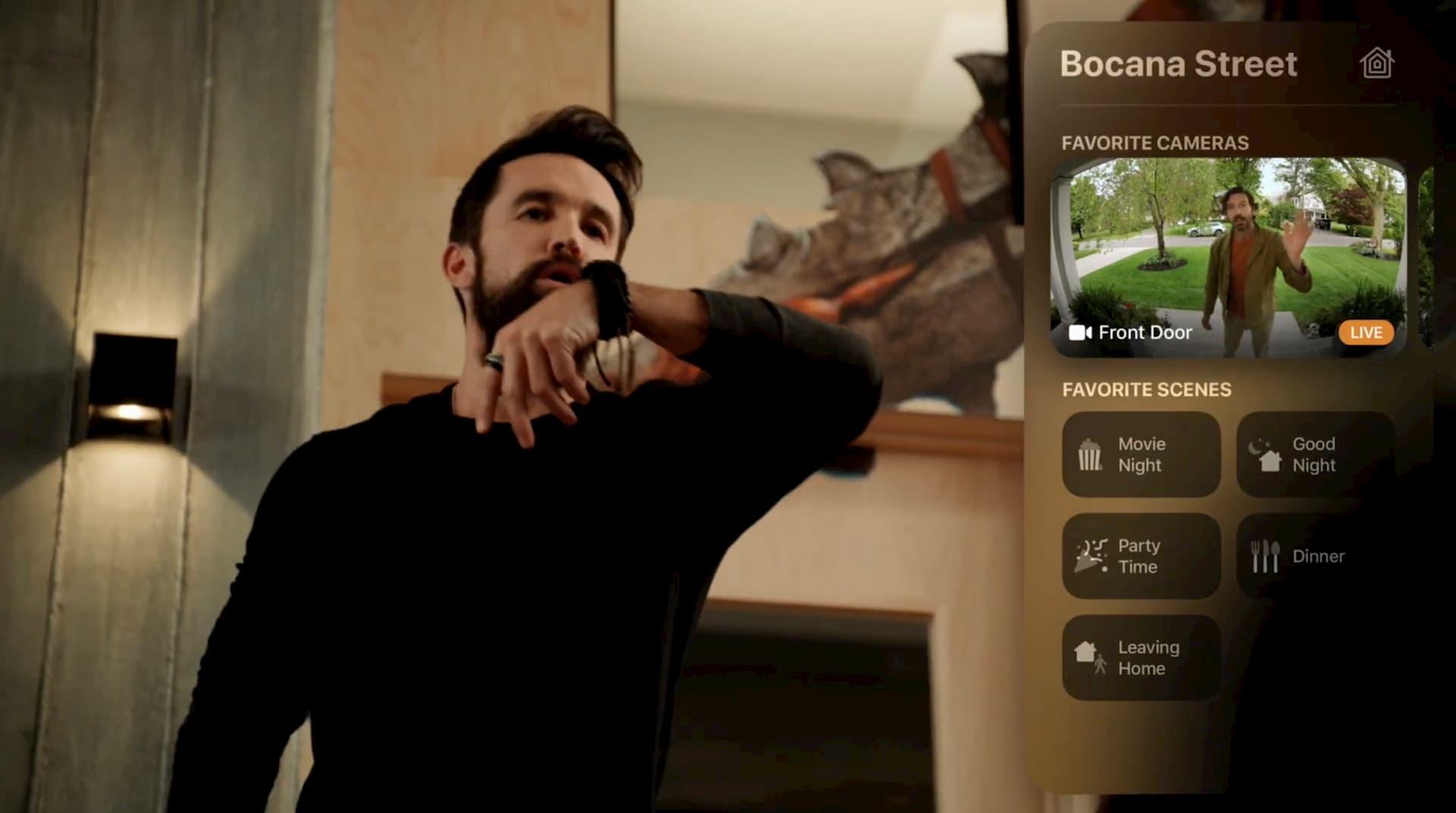 Apple TV features tvOS 14 - New HomeKit controls for doorbells and security cameras