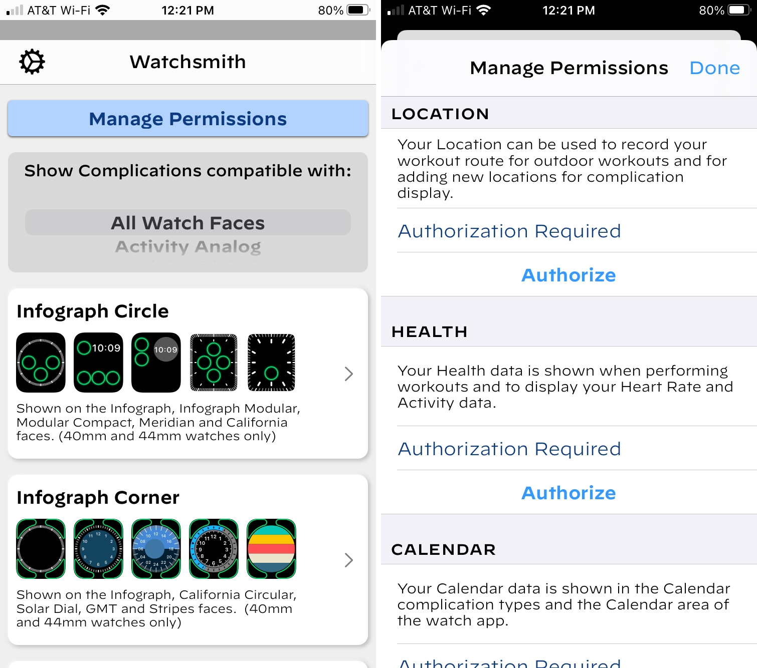 Watchsmith Manage Permissions