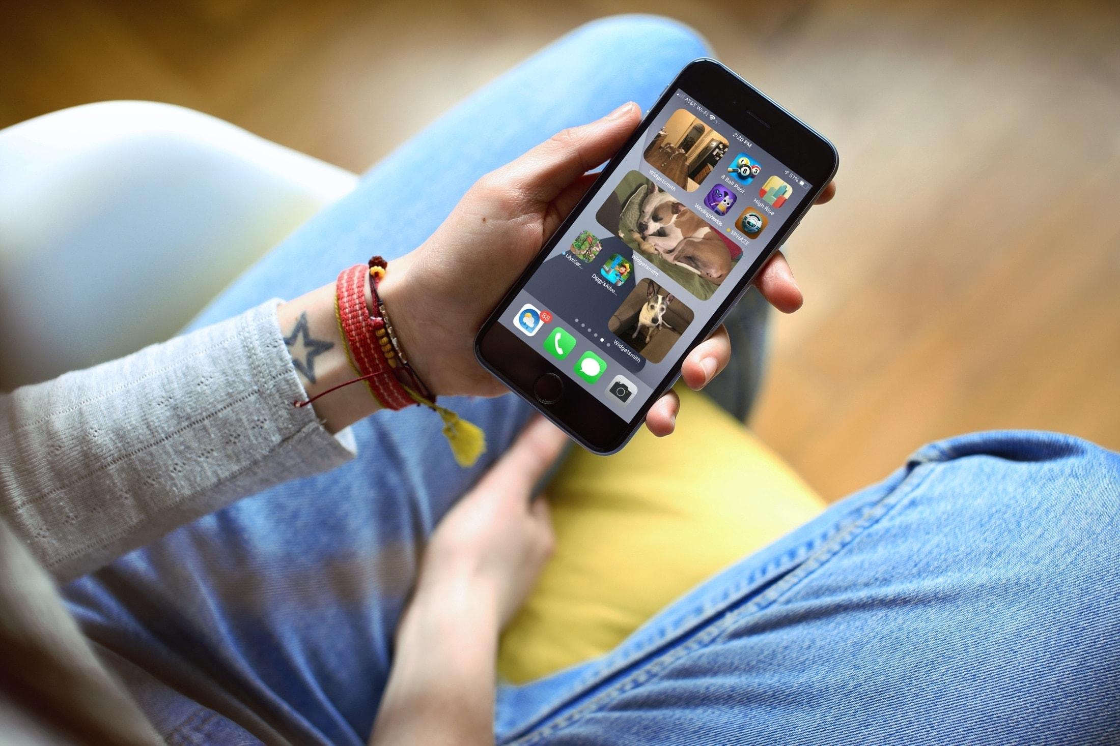 Widgetsmith photo and album widgets on iPhone
