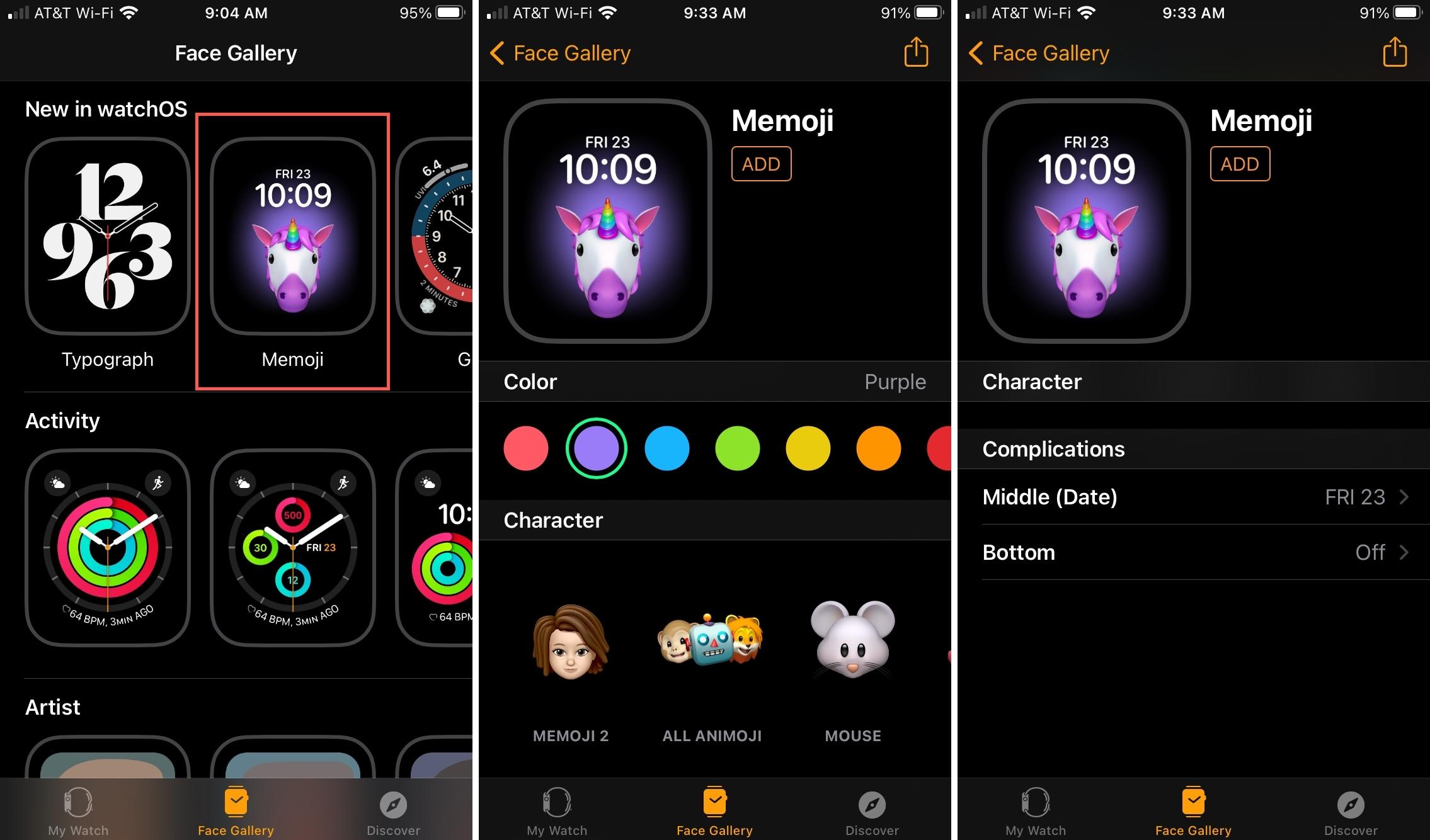 Add Memoji Watch Face on iPhone