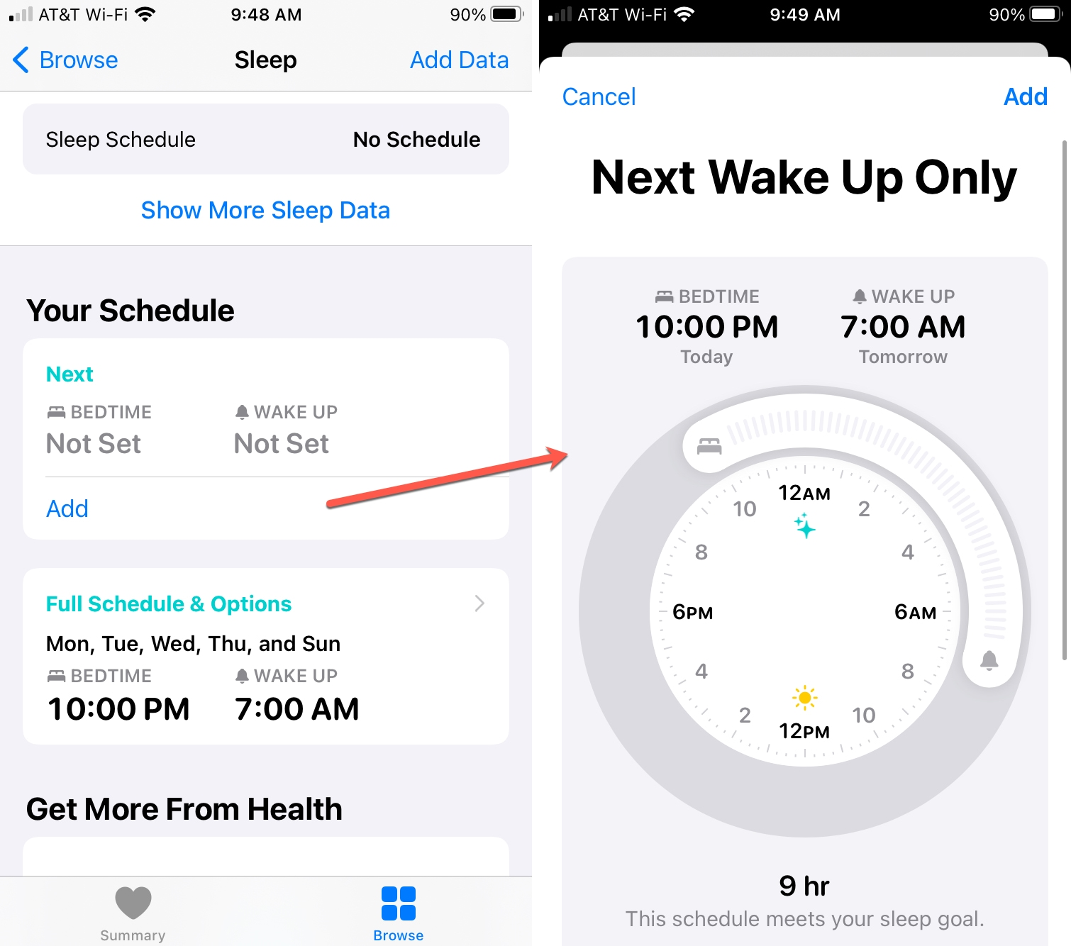 Add Wake Up Only Time on iPhone