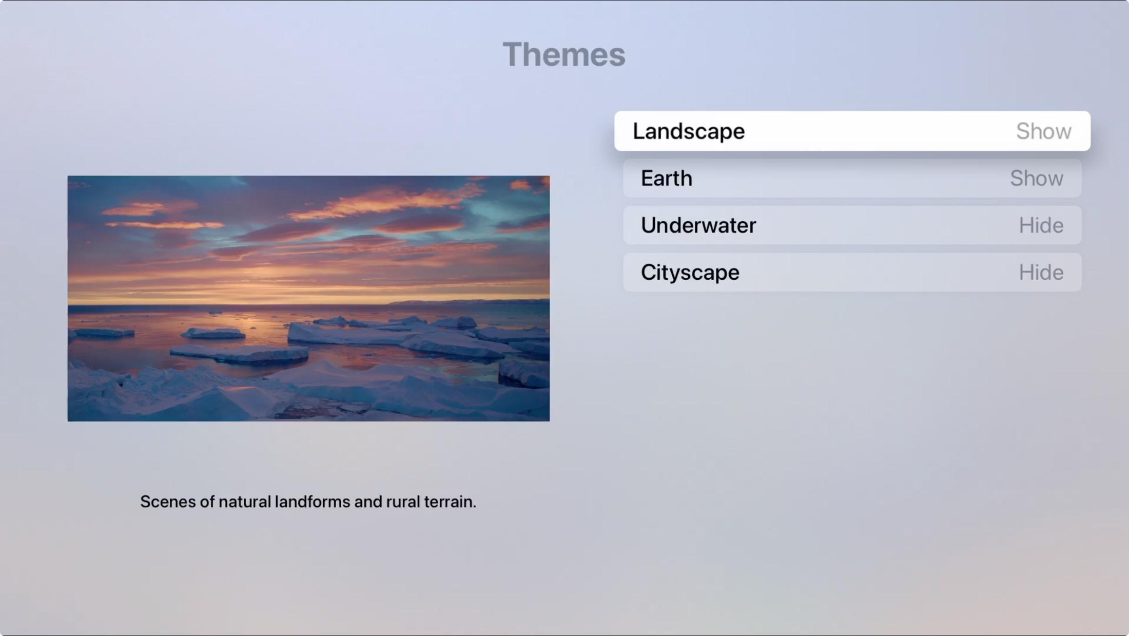 Apple TV Landscape Aerial Theme