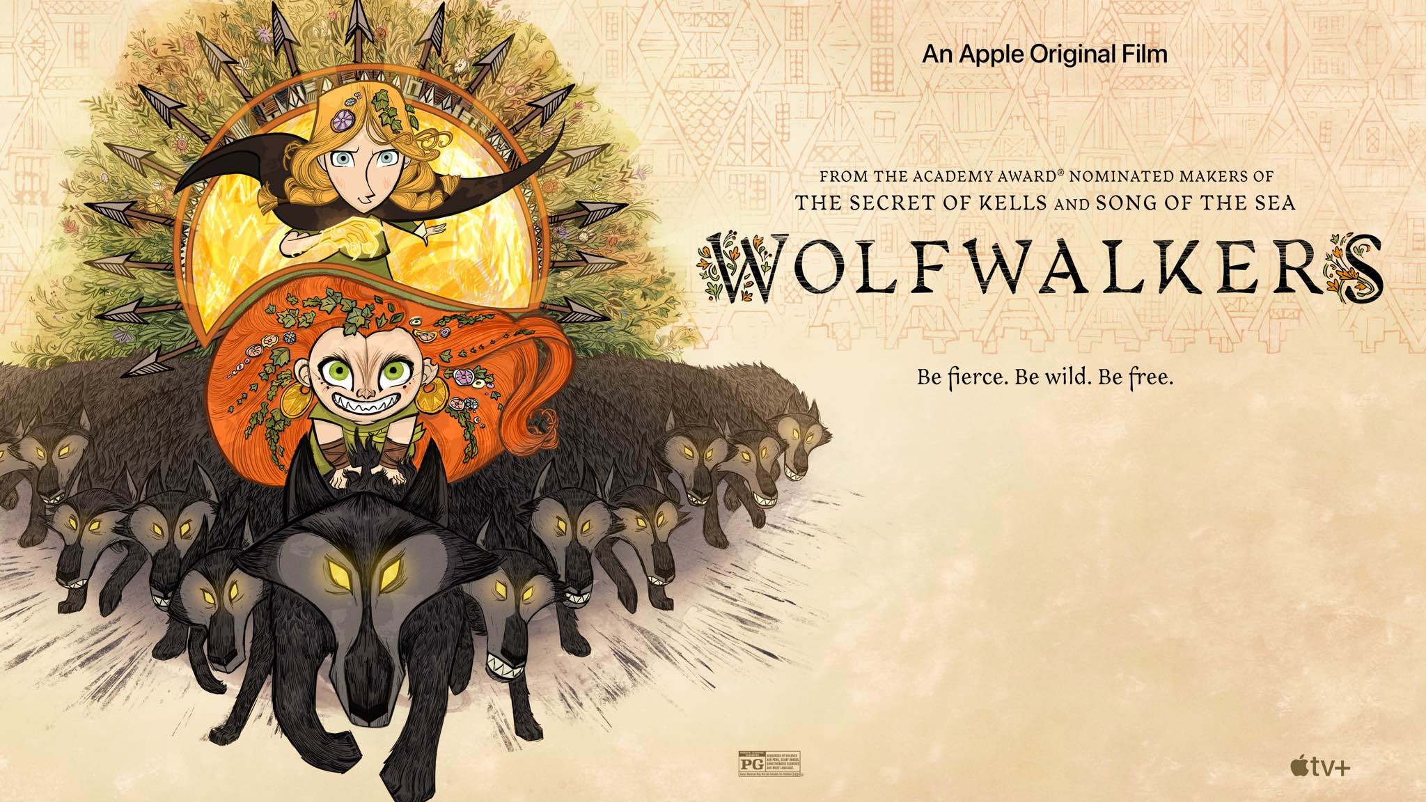"""Apple TV+ animated feature film """"Wolfwalkers"""" gets a prologue trailer ahead  of December 11 premiere"""
