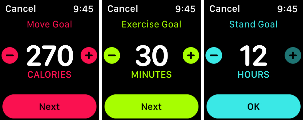 Apple Watch Activity Goals