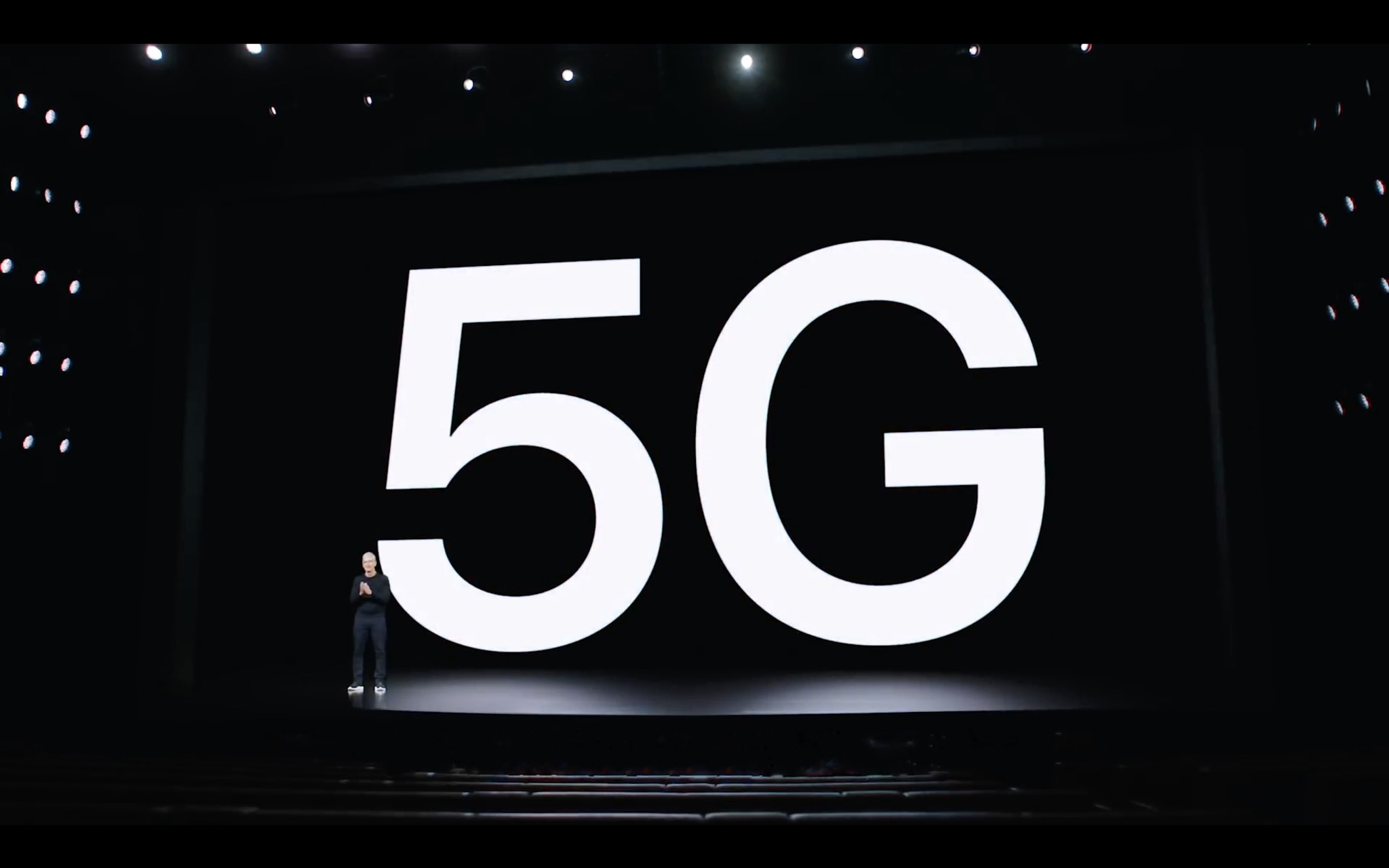 manage 5G iPhone - WWDC 2020 slide showing 5G
