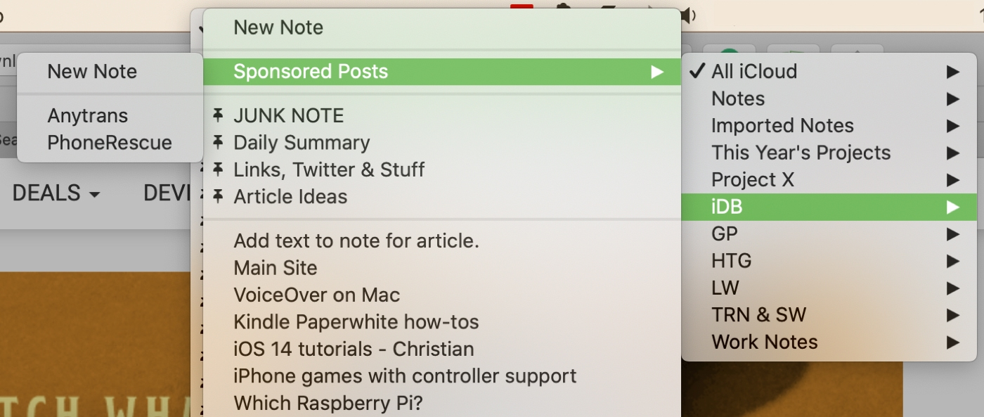 Choose a Notes Location in Safari on Mac