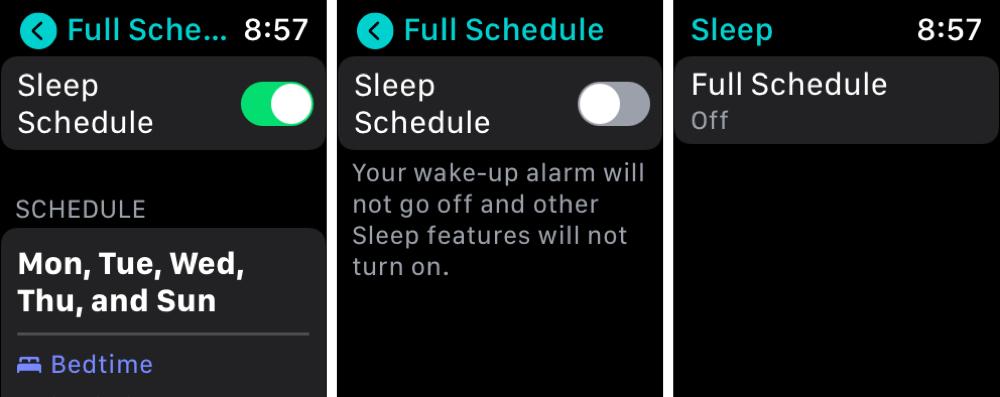 Dsable Sleep on Apple Watch