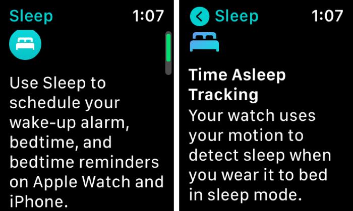 Enable Sleep on Apple Watch