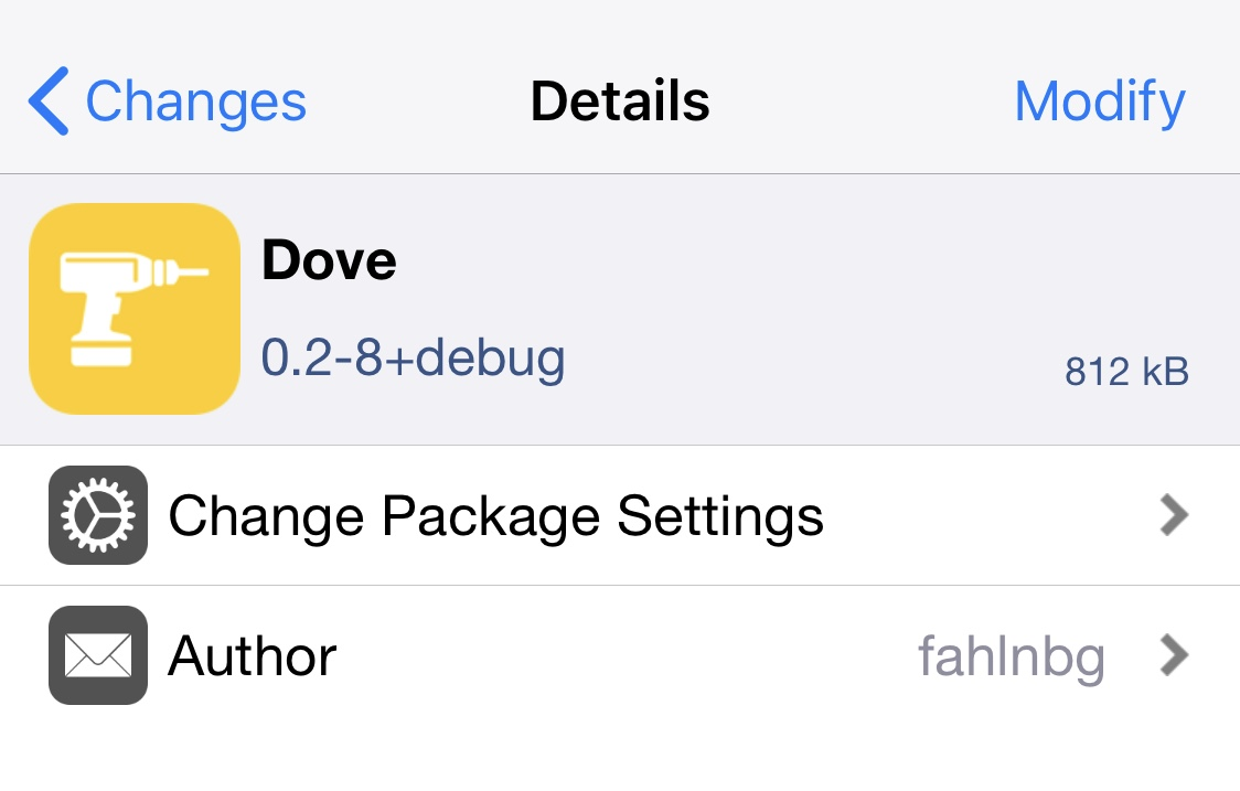 Dove is a free all-in-one jailbreak tweak for customizing iOS 13