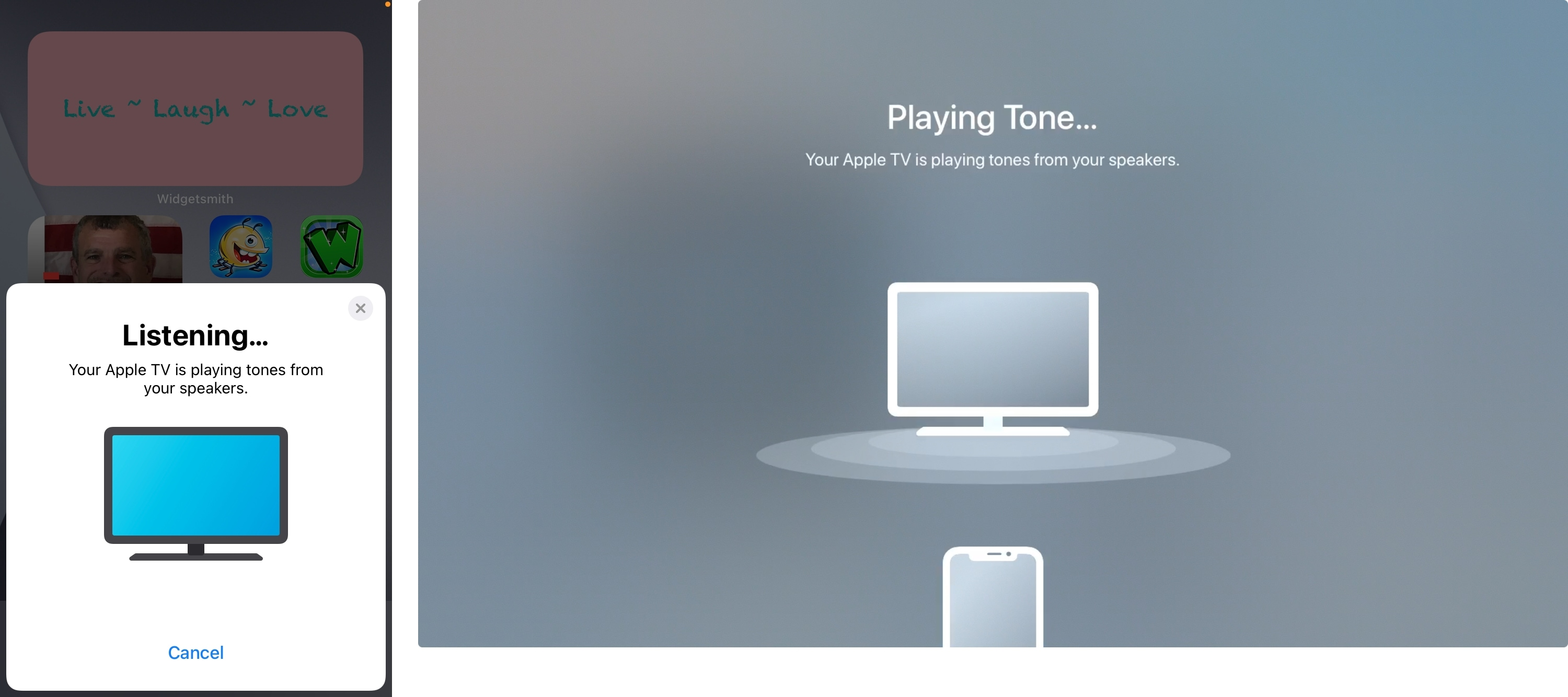 Listening and Playing Tone Wireless Audio Sync on iPhone and Apple TV
