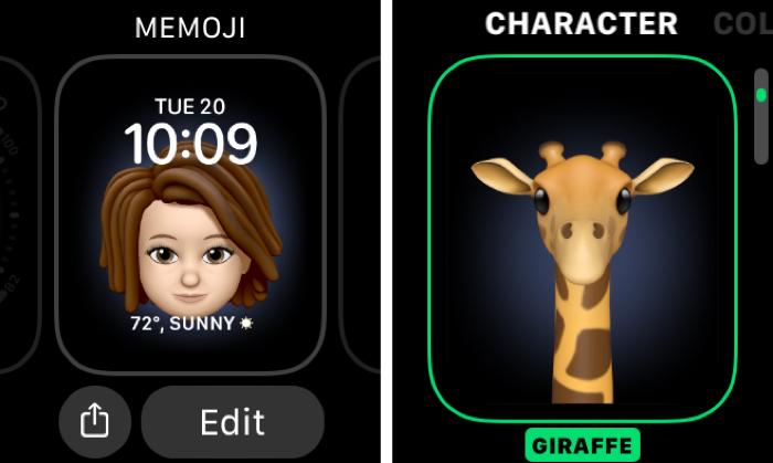 Memoji Watch Face Character
