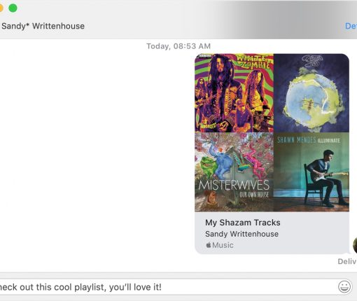 Share a Playlist in Mac Messages