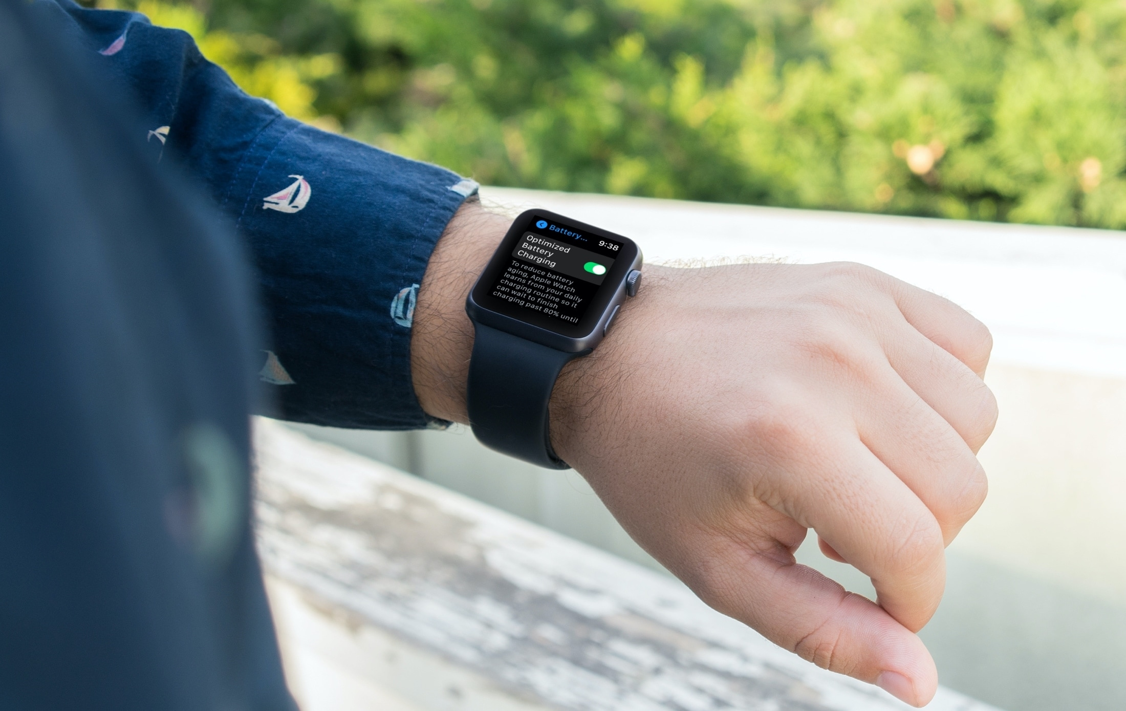 Optimized Battery Charging Enabled on Apple Watch