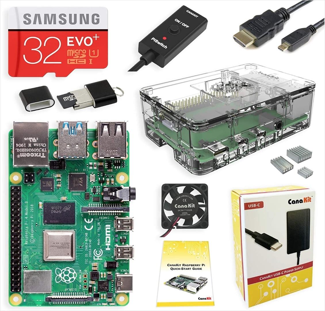 Raspberry Pi CanaKit 4GB Amazon