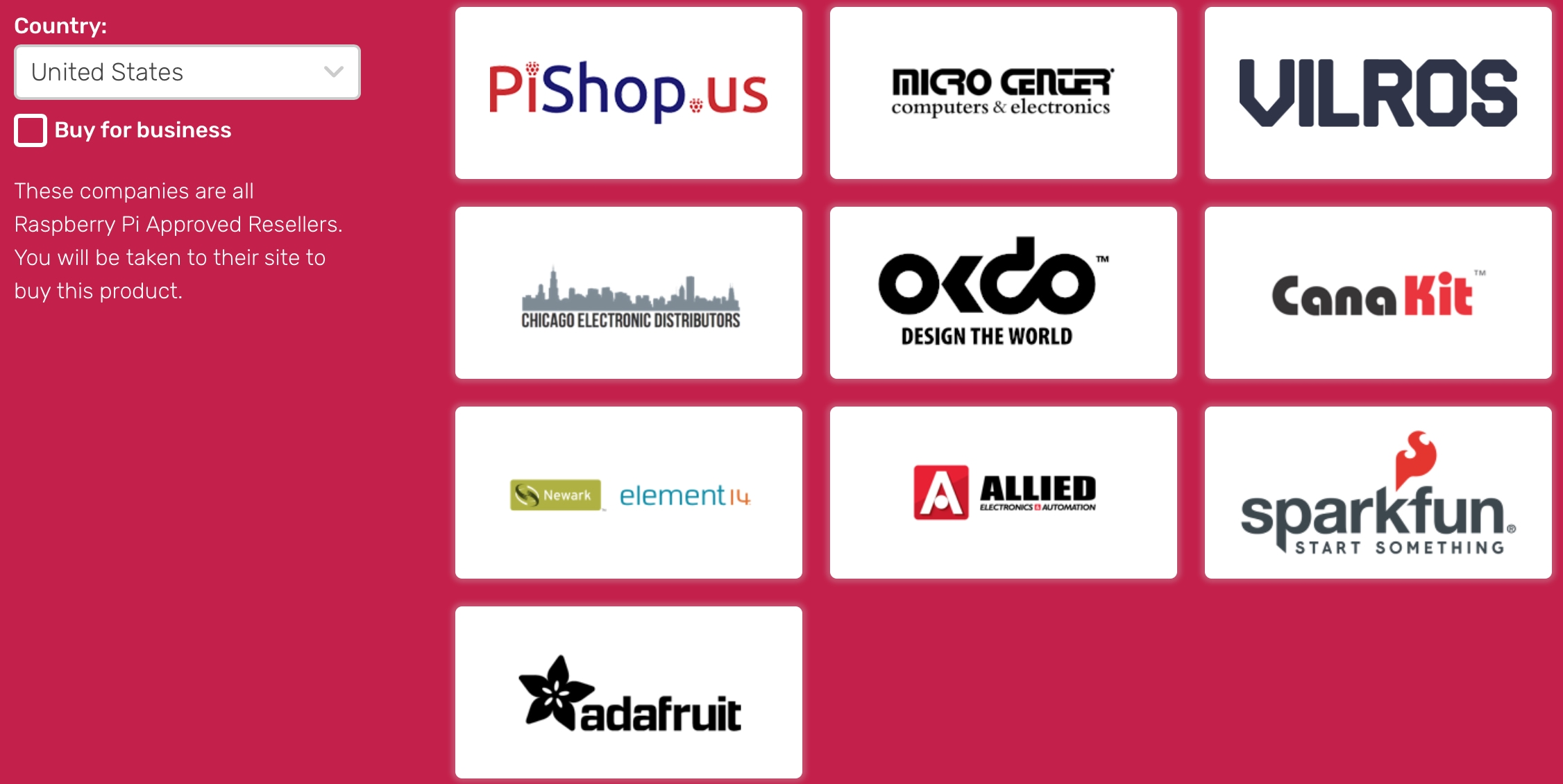 Raspberry Pi Products Sellers