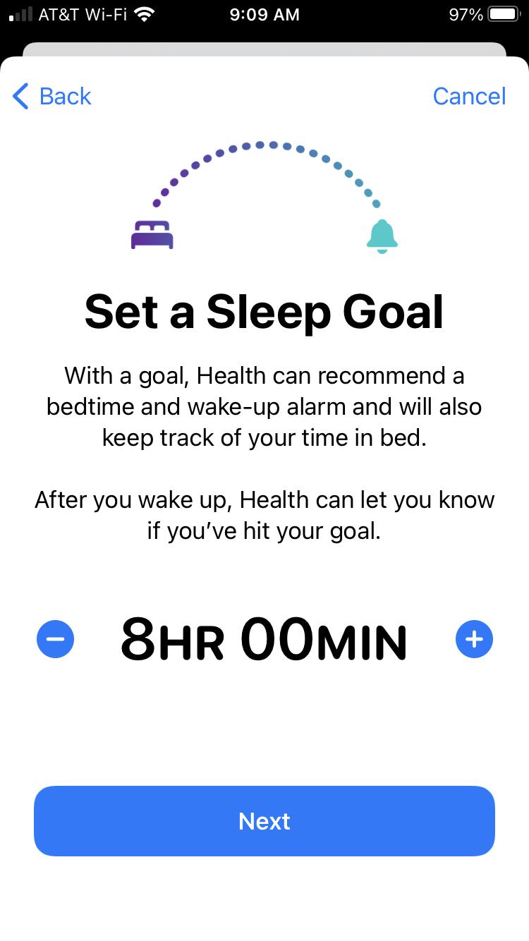 Set a Sleep Goal on iPhone