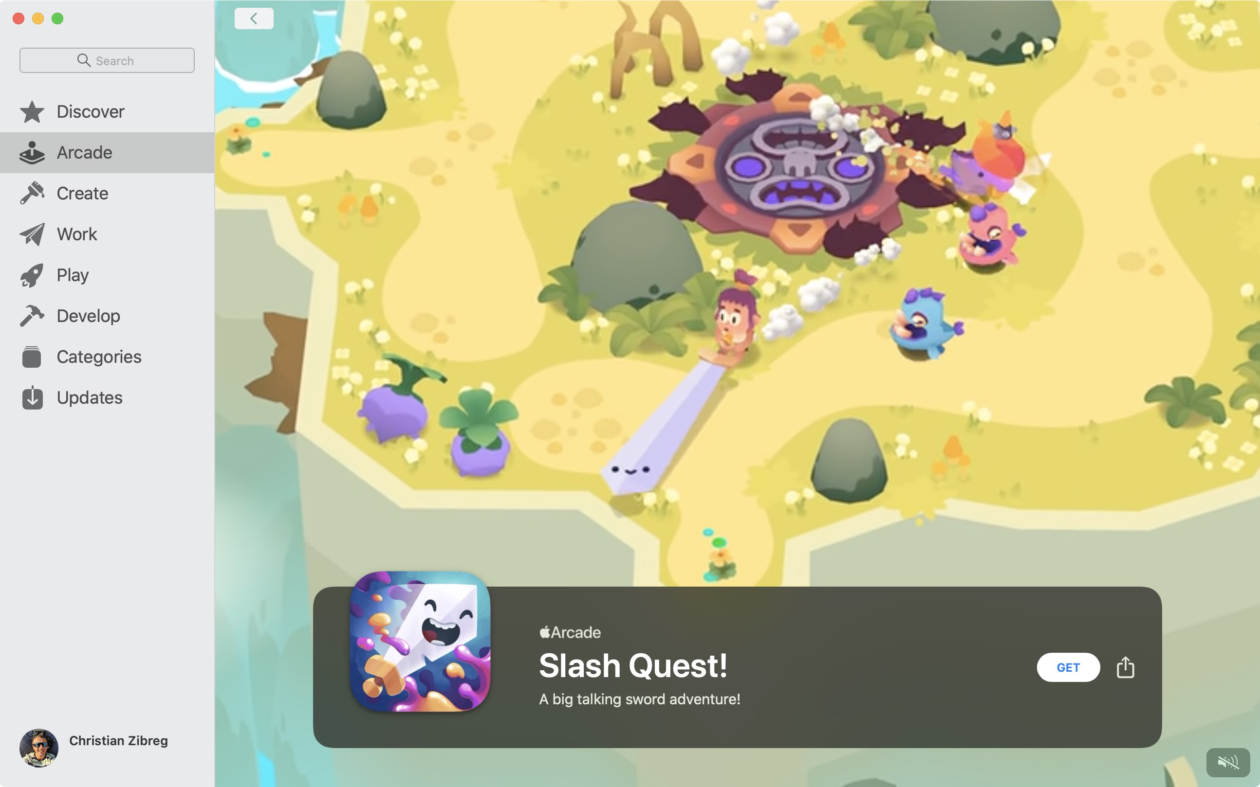 """The new adventure game """"Slash Quest!"""" featuring a talking sword hits Apple Arcade"""