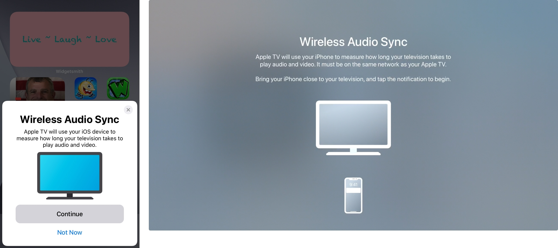 Start Wireless Audio Sync on iPhone and Apple TV