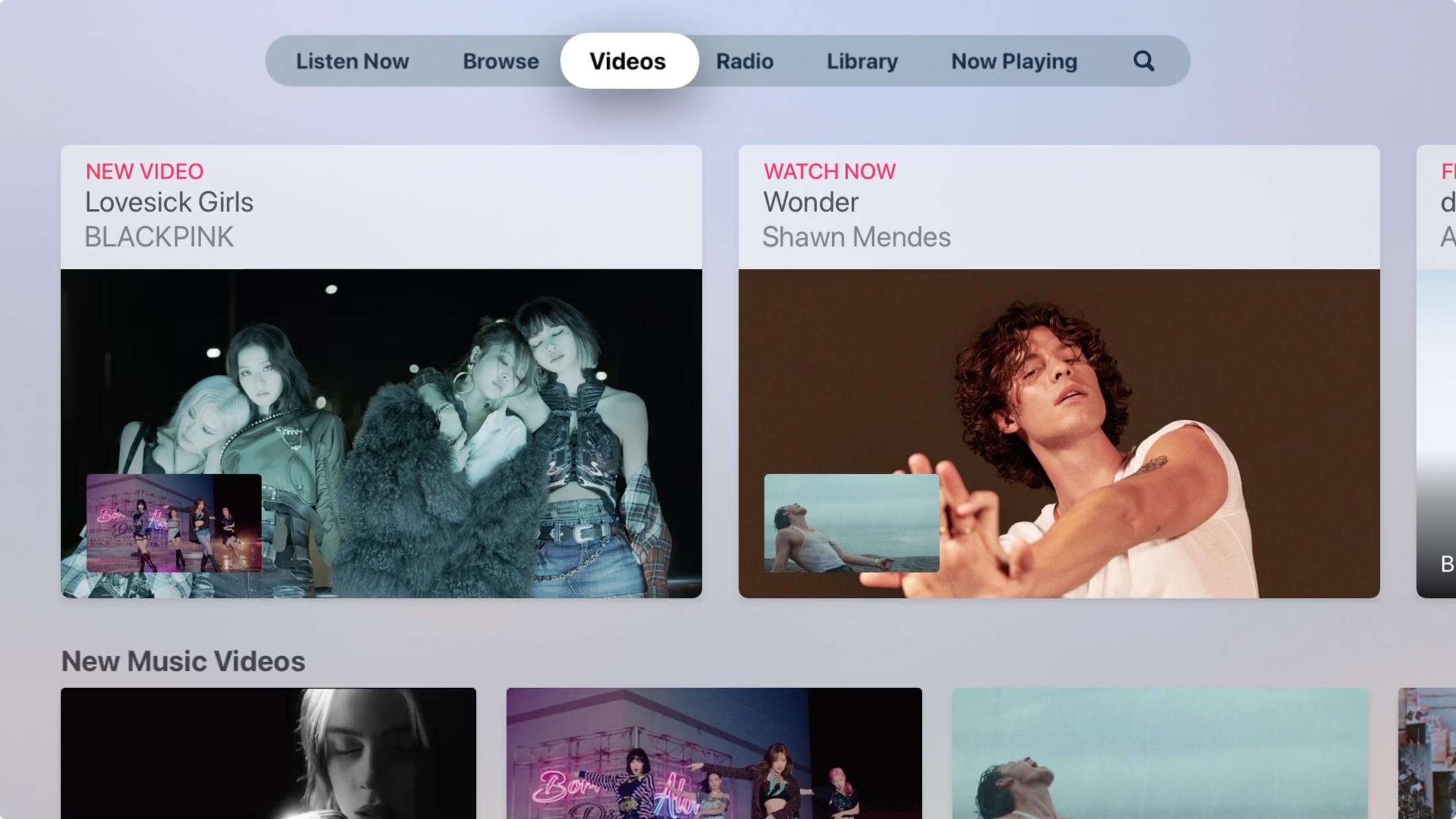Videos in Music on Apple TV