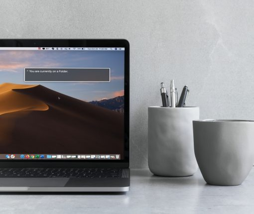 VoiceOver Prompt Window on a MacBook Pro