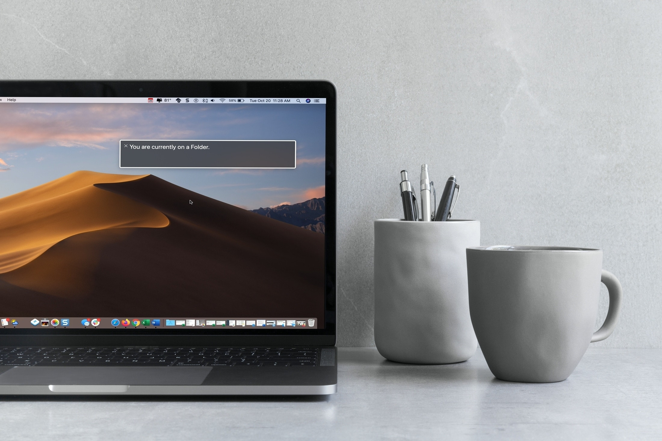 Voiceover prompt window on macbook pro