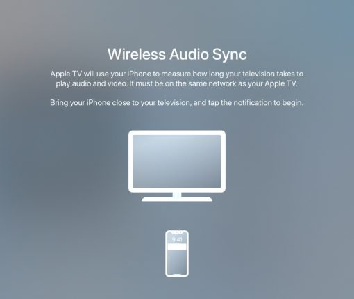 Wireless Audio Sync on Apple TV