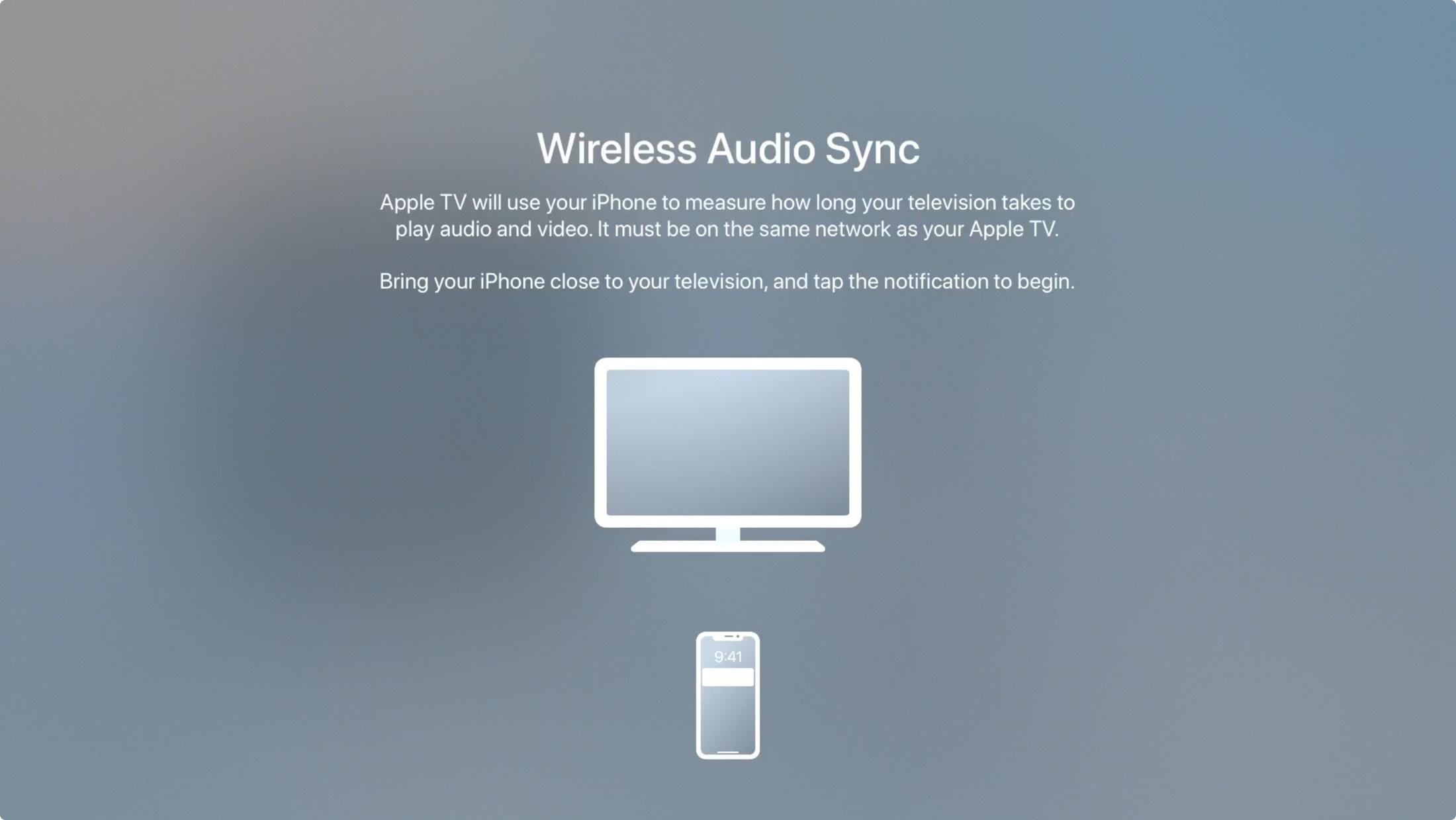 Wireless Audio Sync on Apple TV