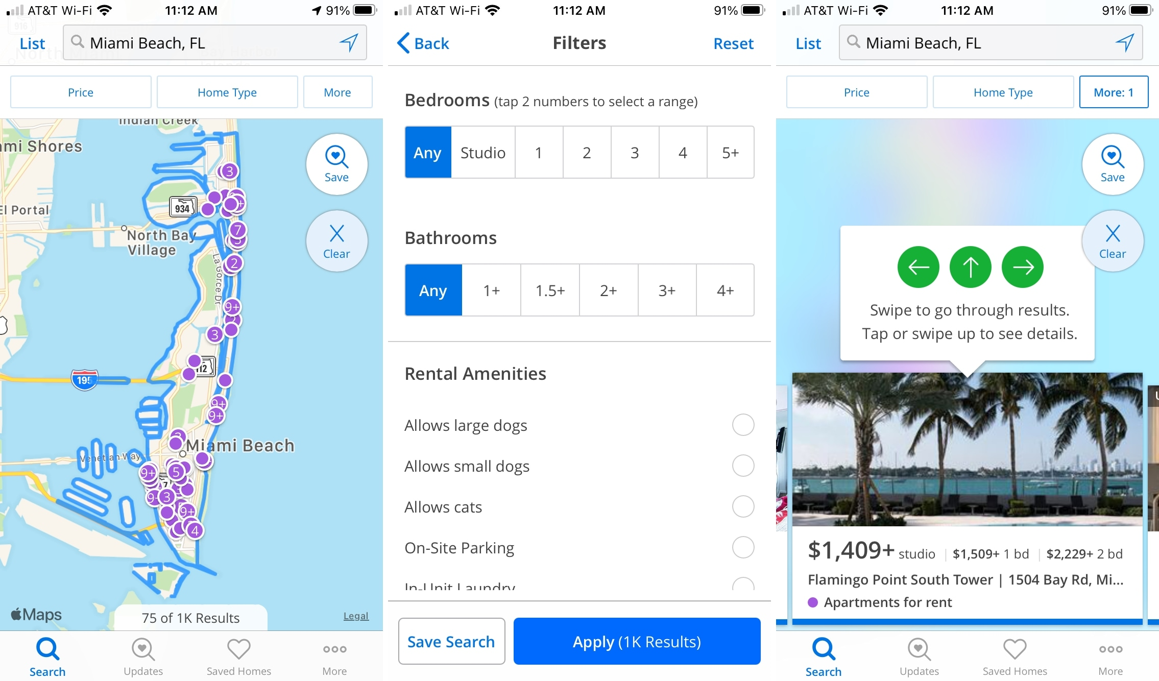 Zillow Rentals on iPhone