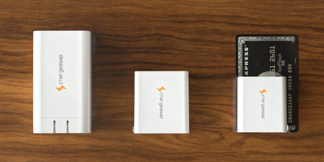 Chargeasap Omega chargers - 65W, 100W and 200W adapters