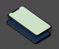 iPhone 12 wallpaper colorway gradient idownloadblog Green by AR7 mockup