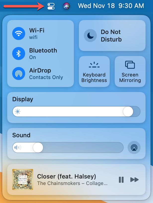 Access Control Center on Mac