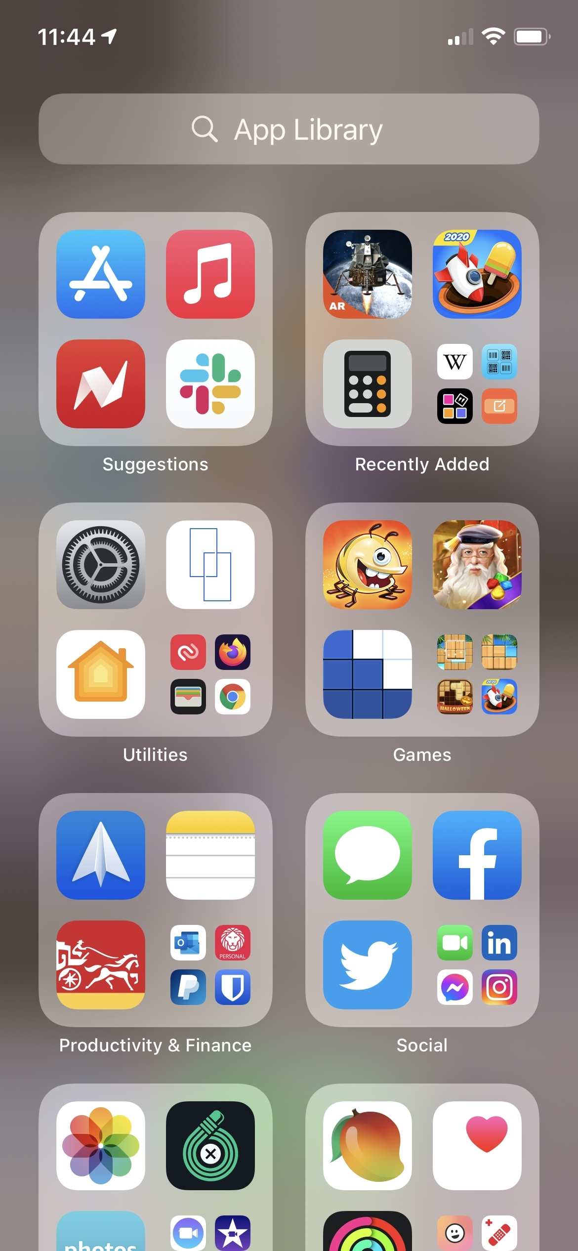 App Library on iPhone