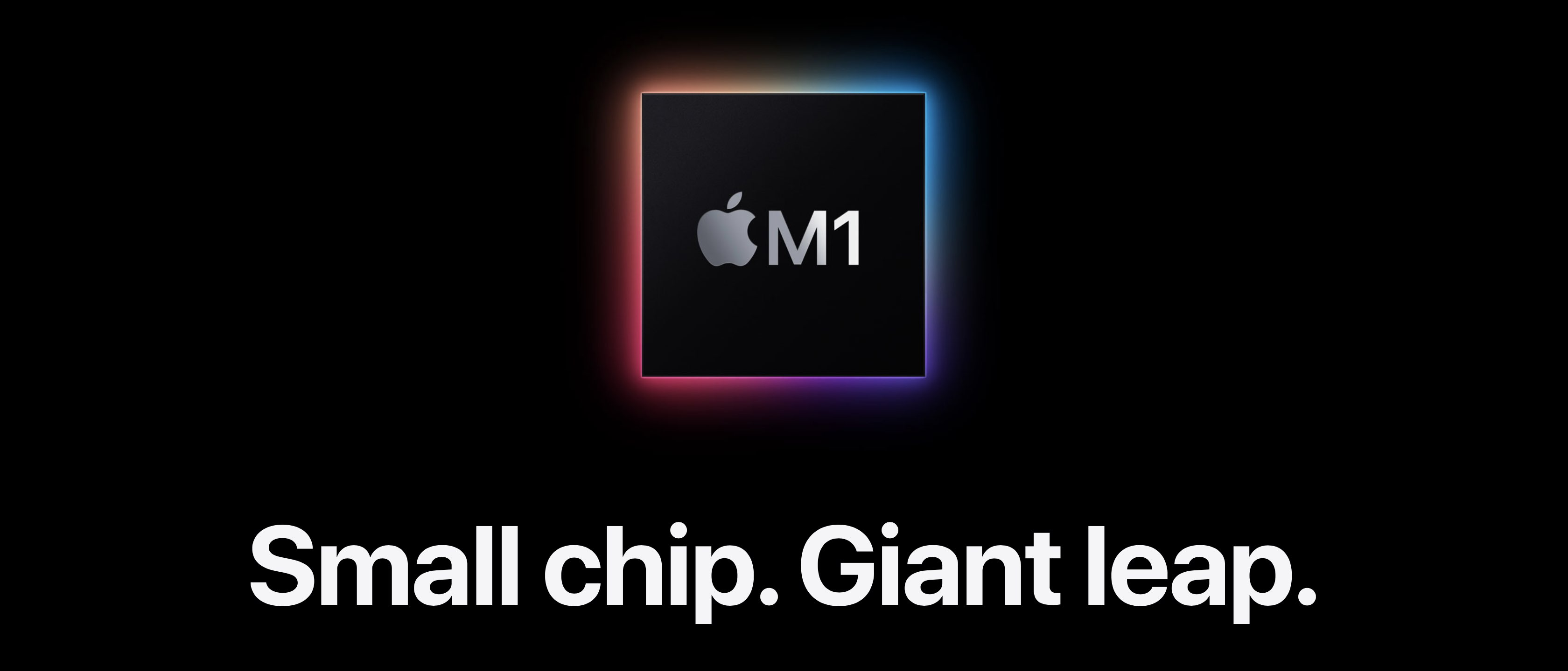 Screenshot 001 der Apple M1 Small Chip Giant Jump-Website