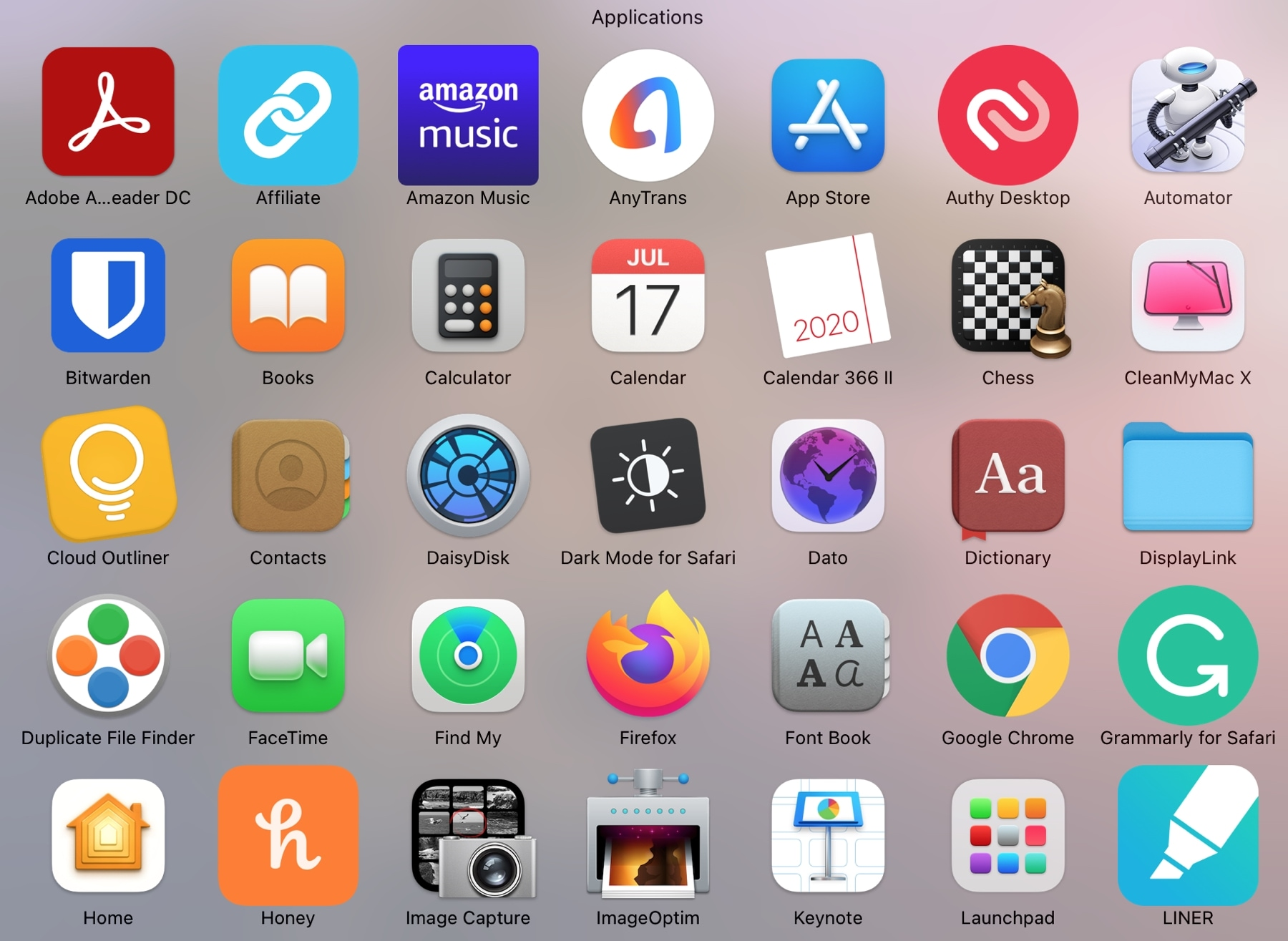 Applications Folder From Dock