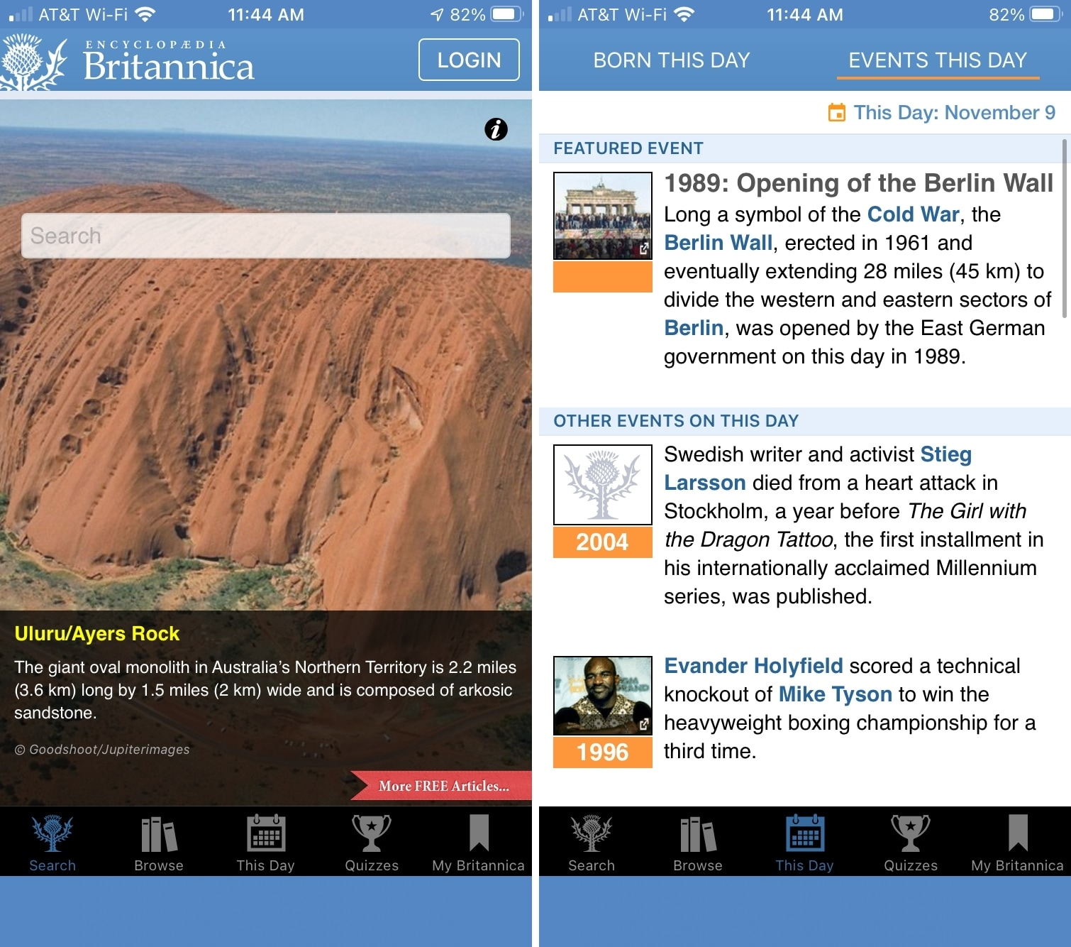Britannica Encyclopedia On This Day on iPhone