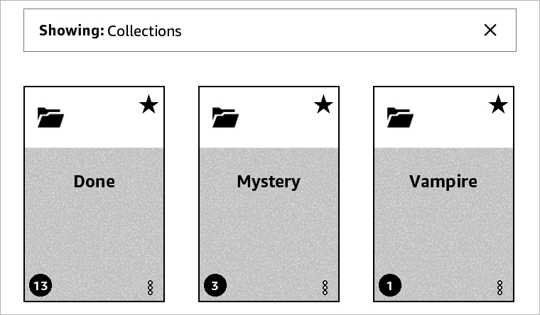 Collections Screen on Kindle Paperwhite