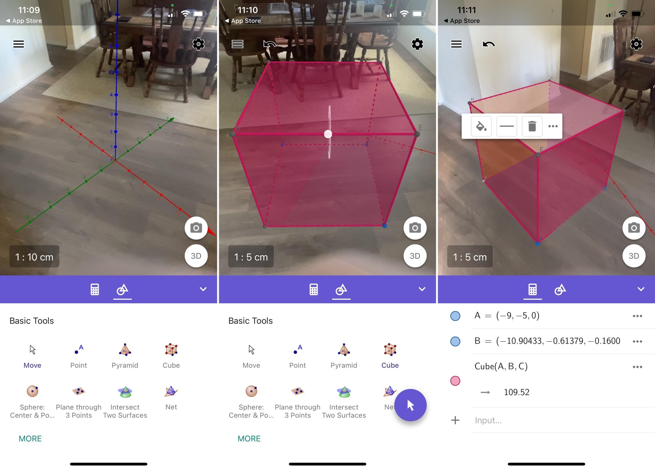 GeoGebra 3D Calculator on iPhone