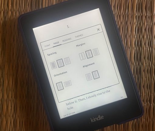 Kindle Page Layout Options