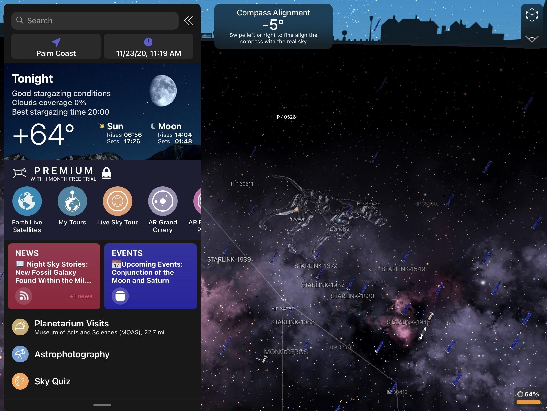 Night Sky on iPad