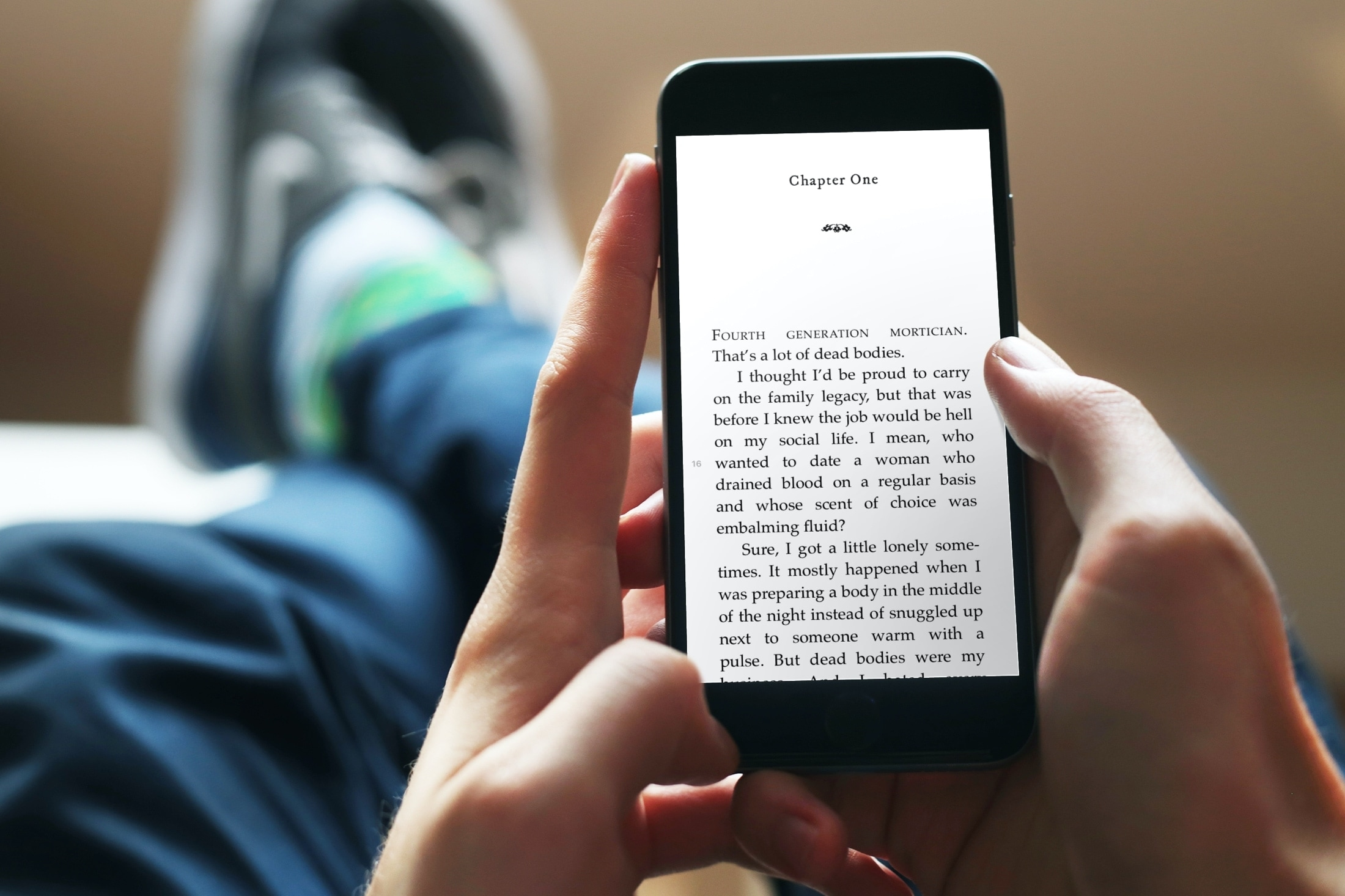 Reading in the Books App on iPhone