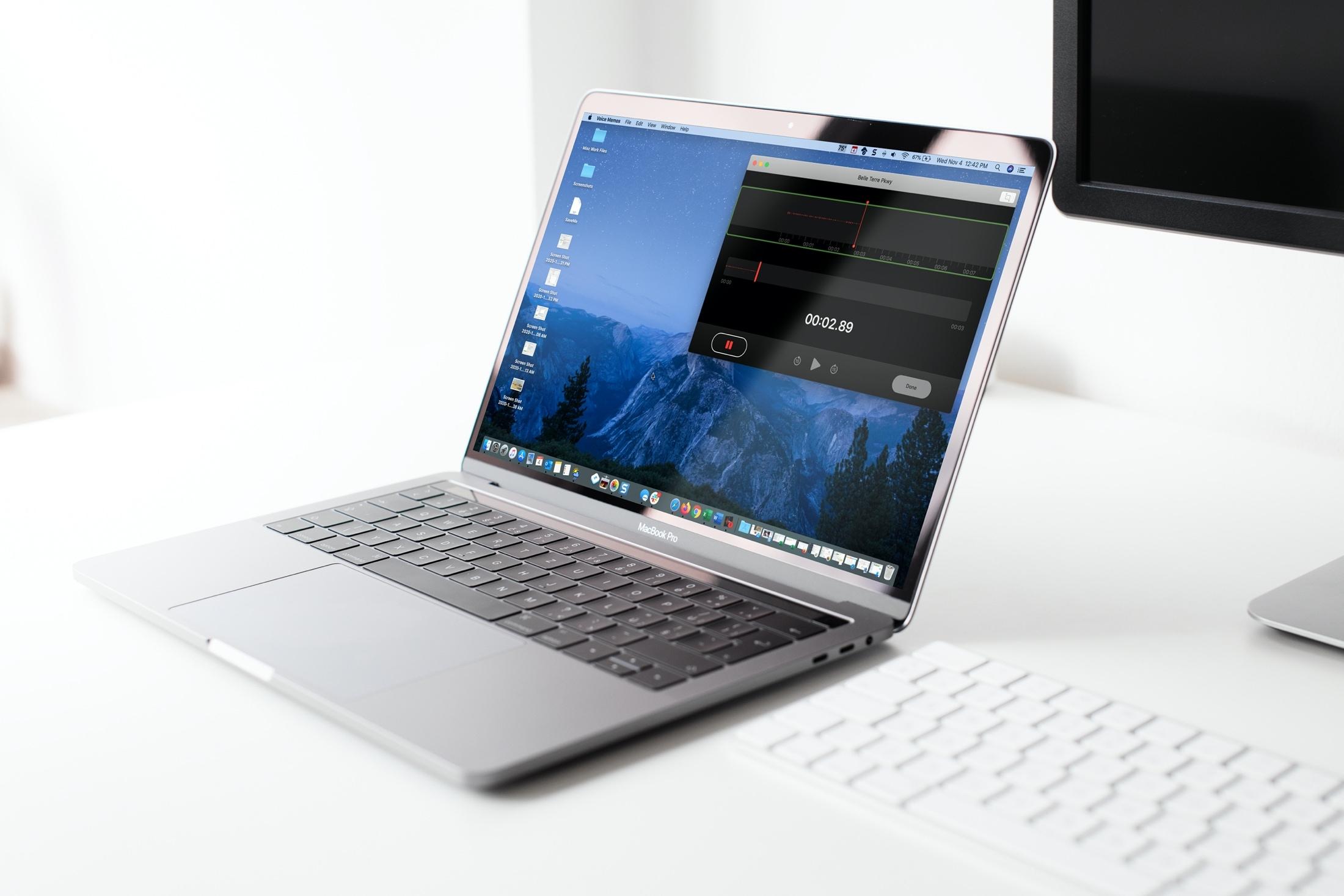 Recording Voice Memos on Mac