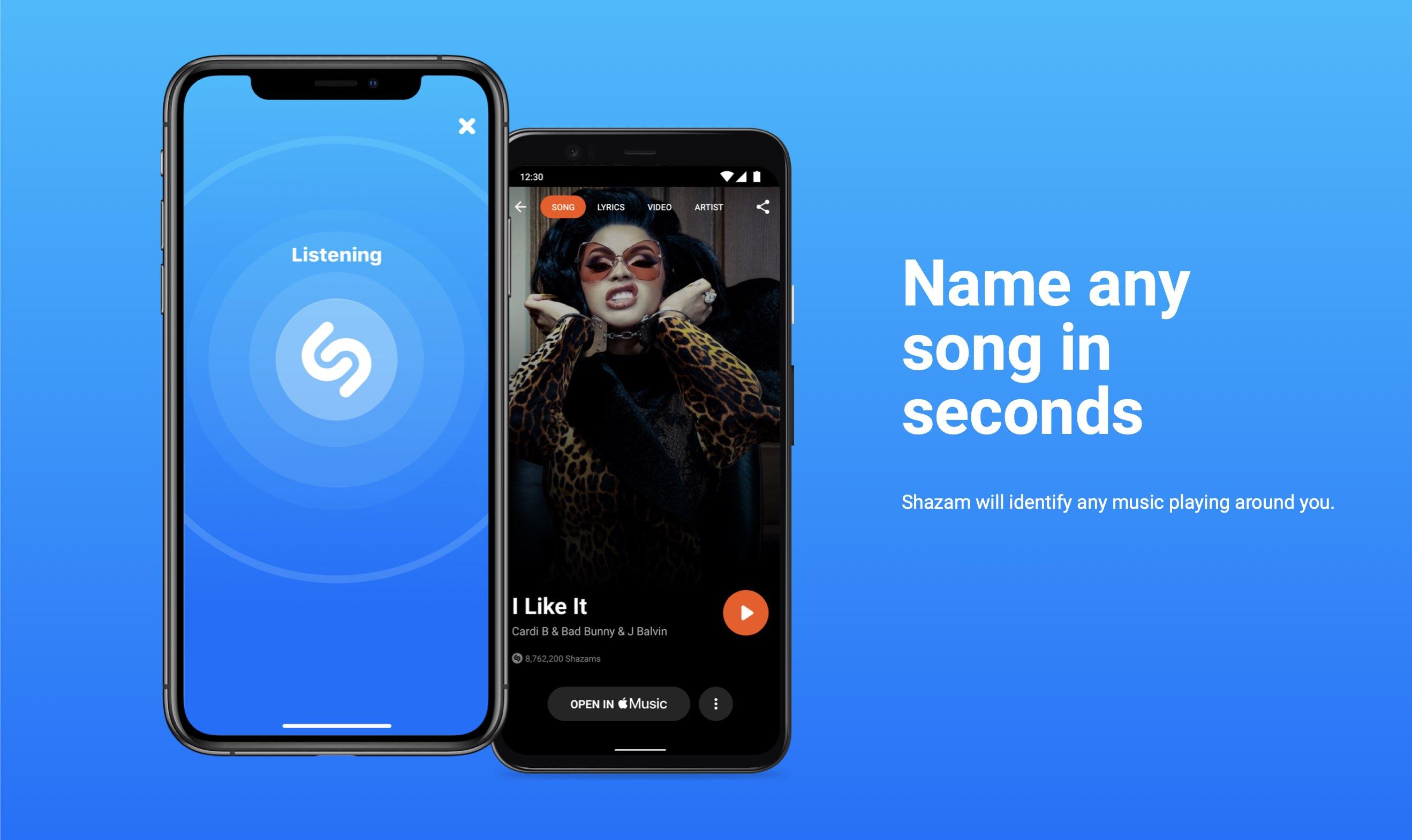 Shazam music recognition - teaser image